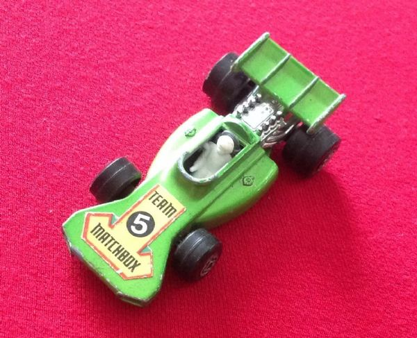Matchbox Superfast No 24 Team Matchbox Green with racing Number 5